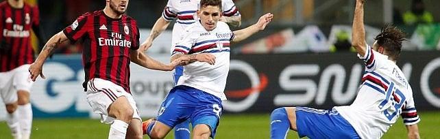 Sampdoria sconfitta nel posticipo a San Siro 1-0  La cronaca