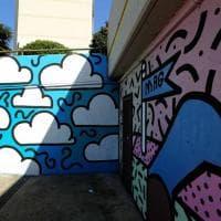 Un paesaggio ultra-pop sui muri delle Lavatrici a Pra'