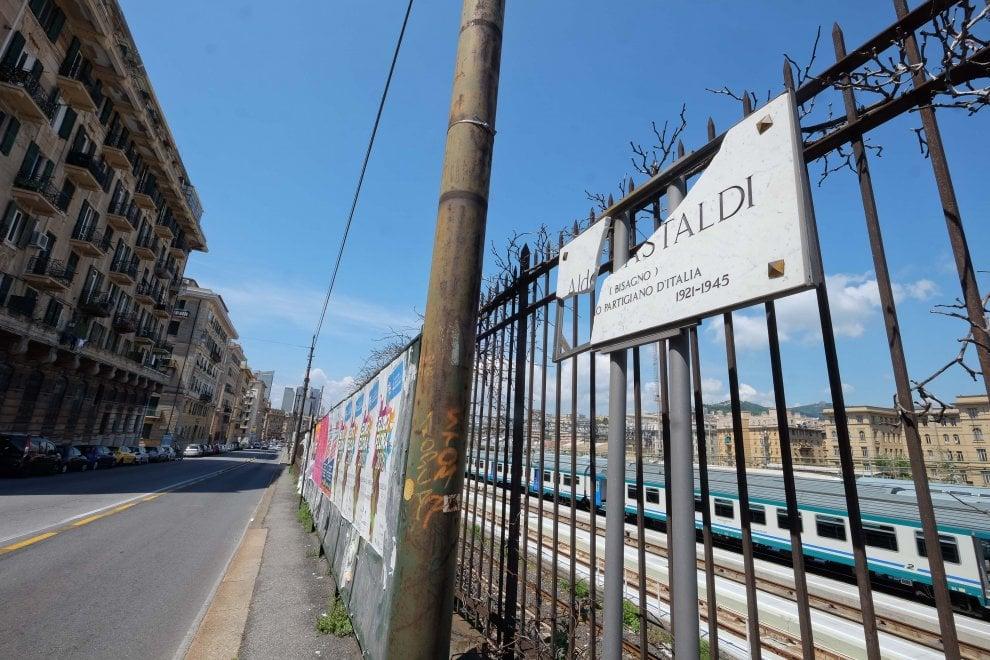 Corso Gastaldi, spaccata la targa del partigiano Bisagno
