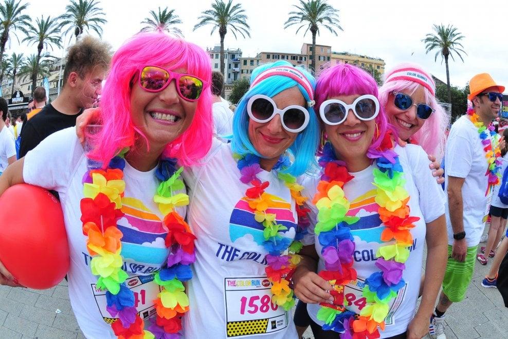 Color run, festa in centro