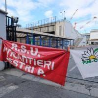 Fincantieri, sciopero e presidio dei lavoratori