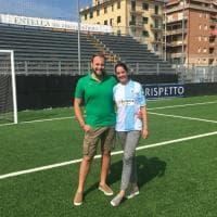 """Follia per amore, con la maglia della Virtus Entella sul campo: """"Mi vuoi sposare""""?"""