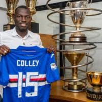 Omar Colley firma alla Samp