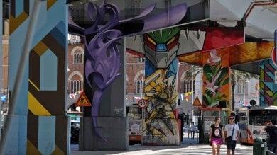 """Una galleria a cielo aperto, la """"street art"""" colora Genova    di FABIO BUSSALINO"""