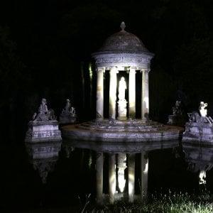 I giochi d'acqua a villa Pallavicini