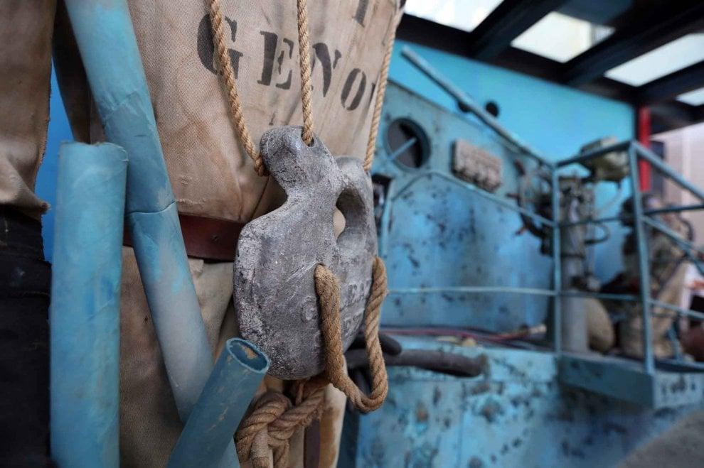 I palombari in acqua al Galata per il compleanno del Museo del Mare