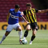 Colley illude la Samp, Deeney la raggiunge