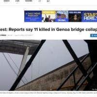 Crollo del ponte Morandi, la notizia sui siti stranieri