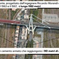 Ponte Morandi, l'infografica: come era e dove è crollato