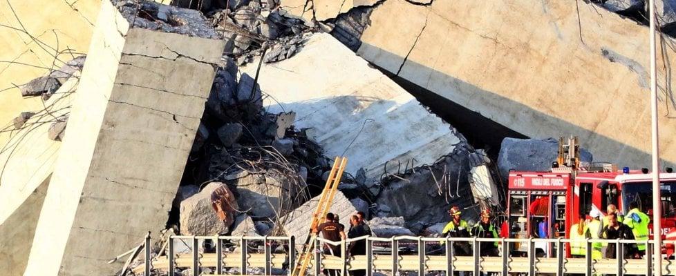 Genova, crollo del ponte autostradale, nel mirino i cavi di