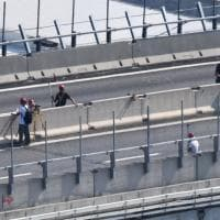 Ponte Morandi, controlli di staticità sul moncone lato ponente