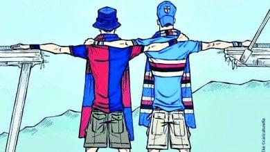 """R :  Gokcen Eke: """"La mia vignetta illustra lo sport come simbolo per costruire il bene comune"""""""