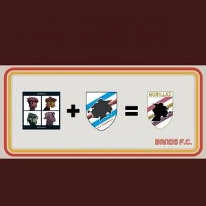 """Sampdoria, il """"Baciccia"""" diventa il logo della banda Gorillaz"""