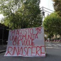 Crollo ponte Morandi un mese dopo: la doppia cerimonia