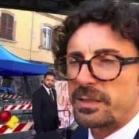 Il ministro Toninelli a Genova: