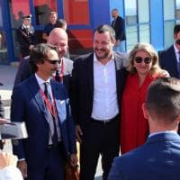 """Salvini al Nautico: """"Venite a Genova"""""""