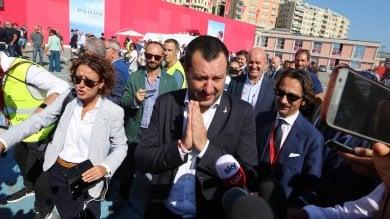 """Salvini al Nautico: """"Genova non cerca vendetta, ma giustizia""""   Foto"""