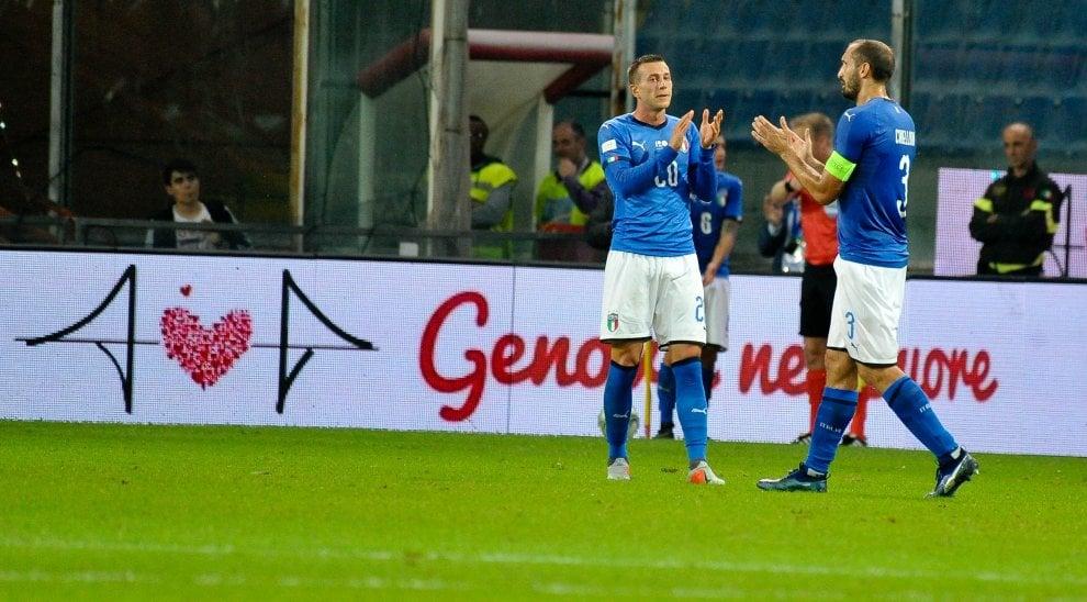 Italia-Ucraina, commozione a Marassi per Genova
