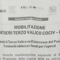 Terzo Valico: 'sbloccare fondi',sindacati in piazza a Genova