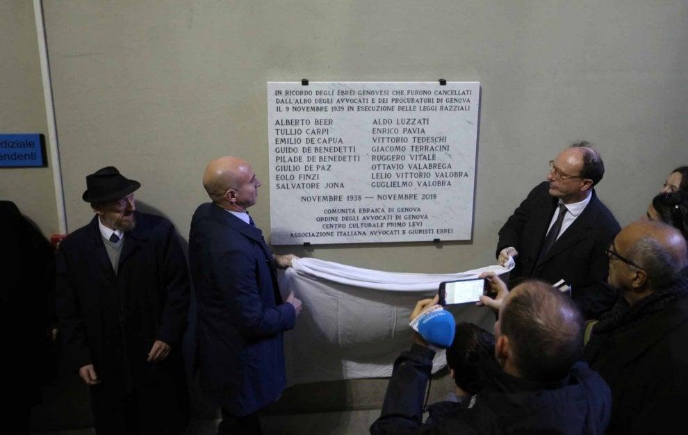 Il tribunale ricorda gli avvocati ebrei cancellati dalle leggi razziali