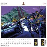 Il nuovo calendario della Polizia affidato ai fumettisti