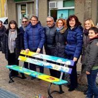 Cairo Montenotte, una panchina per i bambini