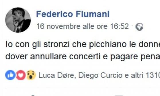 """Federico Fiumani, leader dei Diaframma, accusa di molestie promoter di concerti. """"Non lavoro con chi picchia le donne"""""""