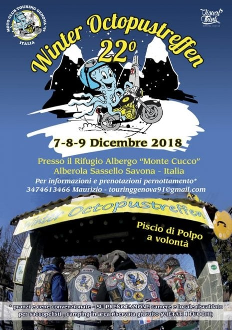 Il raduno invernale delle moto al Sassello
