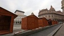 Il mercatale, le casette di legno a De Ferrari