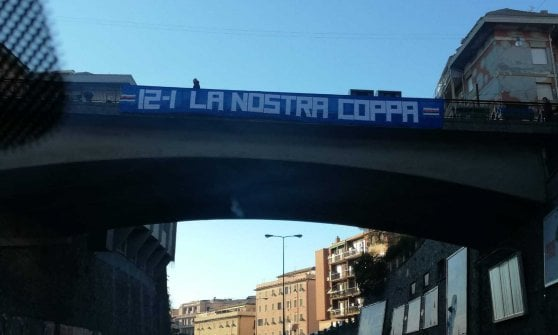 Samp, mobilitazione per la Coppa Italia, la città tappezzata di striscioni