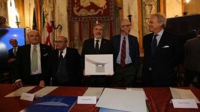 """La firma del contratto per il ponte, il sindaco Bucci: """"Percorribile il 15 aprile del 2020"""""""