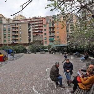 Il Lagaccio e Oregina: i nonni e il doposcuola e la piazza è nel giardino
