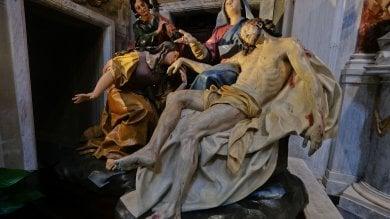 """Genova, concluso il restauro della """"Pietà"""" del Maragliano  Foto"""