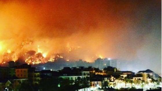 Incendio Cogoleto, a fuoco le colline di Capieso: sequestrato un cavo Enel. Domani le scuole restano chiuse