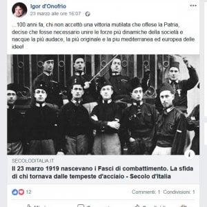 Genova, un altro post fascista di un consigliere di Municipio leghista