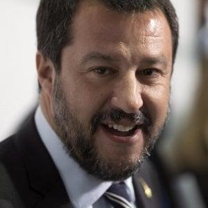 Genova, Salvini in visita a Genova,  firma per accordo su sicurezza integrata