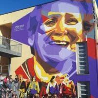 Un murale per Vandina, la partigiana rivive nella scuola