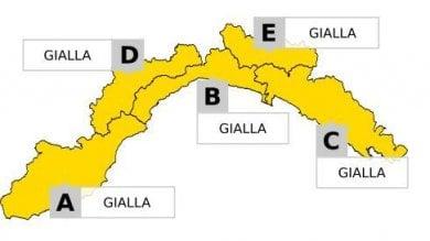 Pioggia e temporali, allerta gialla prolungata in Liguria