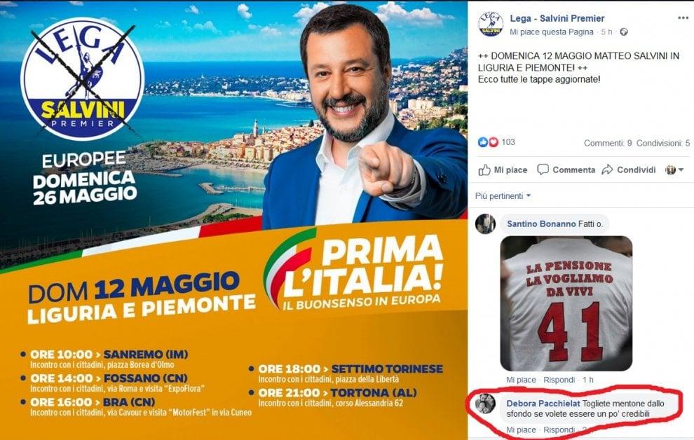 Salvini: prima l'Italia. Ma la foto è di Mentone (Francia), non di Sanremo