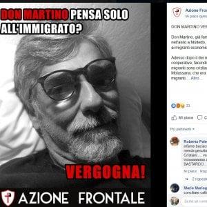 Neofascisti contro don Giacomo, il prete dei migranti
