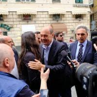 """Zingaretti a Genova: """"Paghiamo undici mesi di catastrofe"""""""