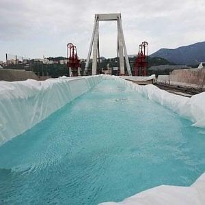 Ponte Morandi: esplosione,via le operazioni di contenimento delle polveri