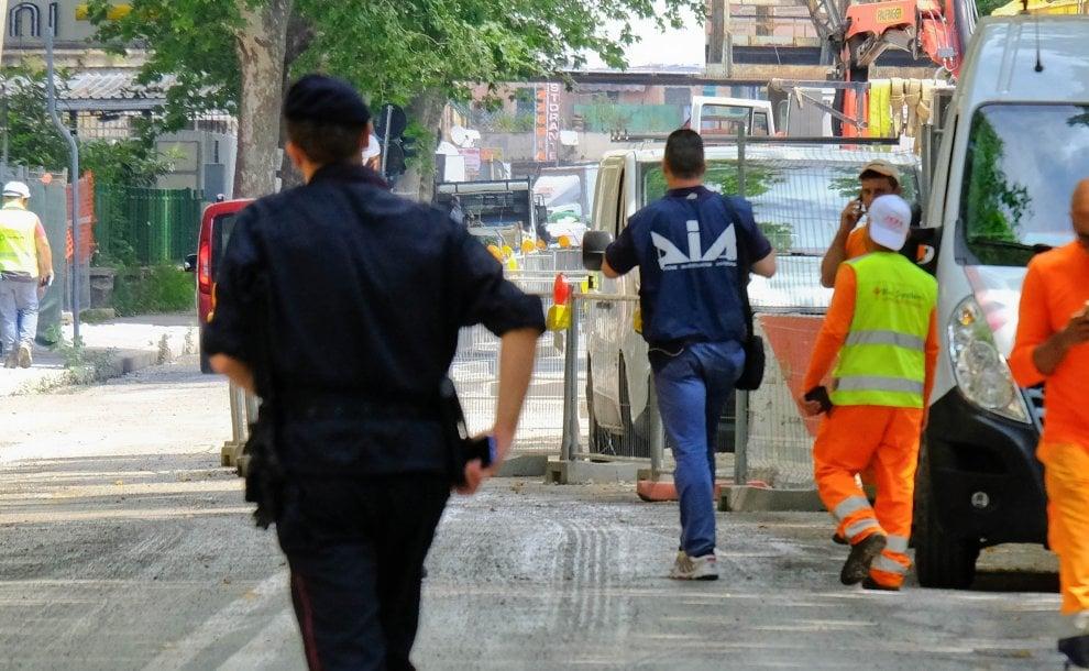 Ponte Morandi, Dia e consiglieri comunali in cantiere