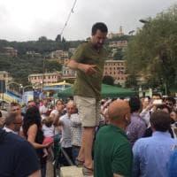 Salvini a Recco: