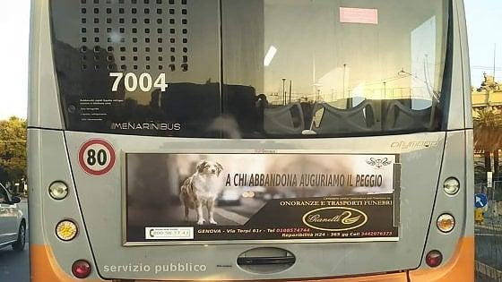Genova, augurano la morte a chi abbandona i cani: lo spot minaccioso delle pompe funebri