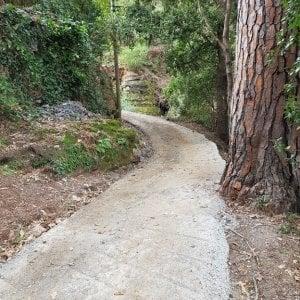 Giallo e polemiche sulla rimozione del cemento dal sentiero nel monte di Portofino