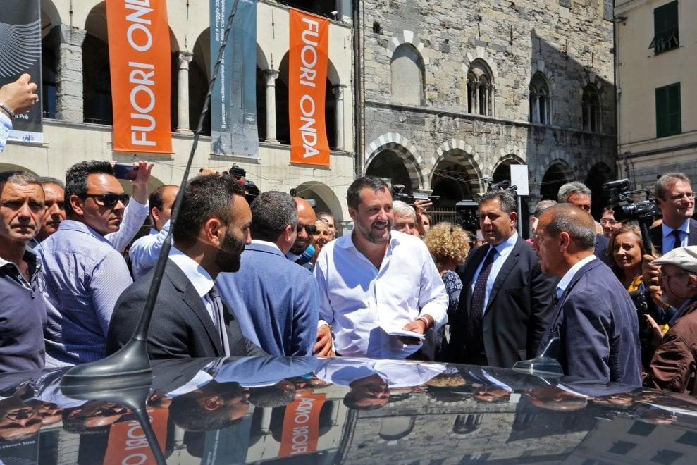 """Salvini sui beni confiscati restituiti alla città: """"Una belissima giornata per Genova"""""""