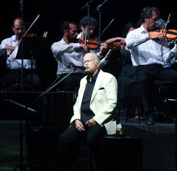 Il concerto di Gino Paoli ai parchi di Nervi