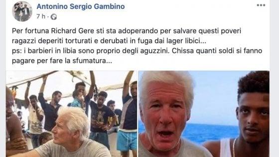 """Il consigliere Gambino attacca Richard Gere: """"Ipocrita. Quei migranti hanno i capelli con la sfumatura, non sono stati torturati"""""""