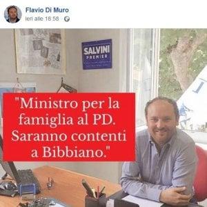 """Il deputato leghista Di Muro: """"Ministro Pd per la famiglia, saranno contenti a Bibbiano"""""""